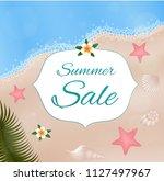 summer sale. vector card. | Shutterstock .eps vector #1127497967