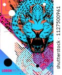 cover with design of leopard's... | Shutterstock .eps vector #1127500961