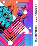 cover with design of leopard's... | Shutterstock .eps vector #1127500967