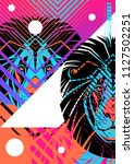 cover with design of lion's... | Shutterstock .eps vector #1127502251