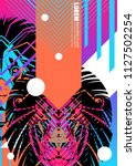 cover with design of lion's... | Shutterstock .eps vector #1127502254