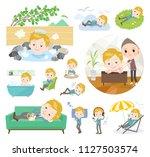 a set of school boy about... | Shutterstock .eps vector #1127503574