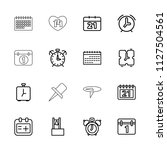 reminder icon. collection of 16 ... | Shutterstock .eps vector #1127504561