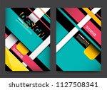 template vector cover book... | Shutterstock .eps vector #1127508341