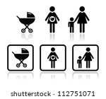 baby icons set   carriage ... | Shutterstock .eps vector #112751071