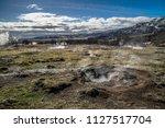 geysir destrict in iceland.the... | Shutterstock . vector #1127517704