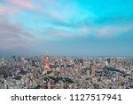tokyo tower  japan  ... | Shutterstock . vector #1127517941