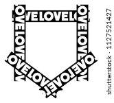 love pocket style print   Shutterstock .eps vector #1127521427