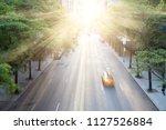 new york city taxi speeding...   Shutterstock . vector #1127526884