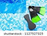 flippers and aqua aerobics...   Shutterstock . vector #1127527325