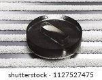 black minus circle icon on the... | Shutterstock . vector #1127527475