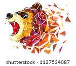 low polygon bear geometric... | Shutterstock .eps vector #1127534087