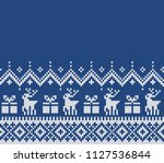 christmas and new year design.... | Shutterstock .eps vector #1127536844