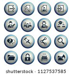 forum interface web icons for...   Shutterstock .eps vector #1127537585