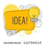 speech bubble with light bulb ...   Shutterstock .eps vector #1127544119