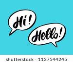 hello and hi. words in speech... | Shutterstock .eps vector #1127544245