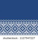 winter sweater fairisle design. ... | Shutterstock .eps vector #1127547227