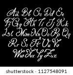calligraphy alphabet vector | Shutterstock .eps vector #1127548091