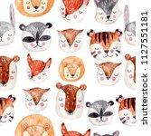 watercolor seamless pattern... | Shutterstock . vector #1127551181