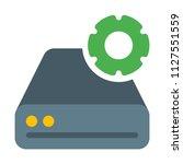 disk drive settings | Shutterstock .eps vector #1127551559