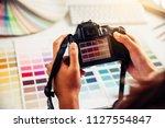 designer graphic creative ...   Shutterstock . vector #1127554847