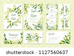 eucalyptus design. wedding... | Shutterstock .eps vector #1127560637
