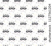 seamless pattern with super cat.... | Shutterstock .eps vector #1127561204
