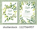wedding invitation frames with...   Shutterstock .eps vector #1127564957