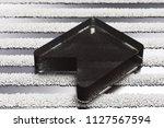 black bookmark icon on the...