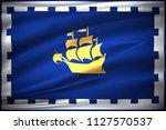 waving flag illustration of...   Shutterstock . vector #1127570537