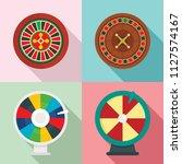 roulette wheel fortune icons... | Shutterstock .eps vector #1127574167
