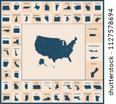 outline map of the united... | Shutterstock .eps vector #1127578694