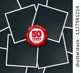 50 years anniversary vector... | Shutterstock .eps vector #1127581214