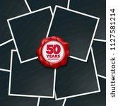 50 years anniversary vector... | Shutterstock .eps vector #1127581214