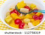 Fresh Fruits Salad In Bow