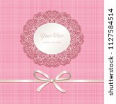 cutout lacy frame on pink... | Shutterstock .eps vector #1127584514