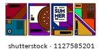 summer colorful poster design... | Shutterstock .eps vector #1127585201