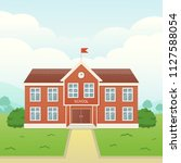 school building vector... | Shutterstock .eps vector #1127588054