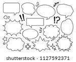 illustration of speech balloon | Shutterstock .eps vector #1127592371