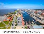 bremerhaven  hafenwelten ... | Shutterstock . vector #1127597177