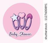 baby shower design | Shutterstock .eps vector #1127600891