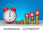 time to pay tax. tax  taxation... | Shutterstock . vector #1127602547