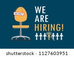 office chair with sign vacancy... | Shutterstock .eps vector #1127603951
