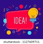 speech bubble with light bulb ...   Shutterstock .eps vector #1127609711