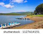 landscape of tuyen lam lake ...   Shutterstock . vector #1127614151