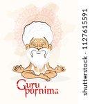 illustration for guru purnima... | Shutterstock .eps vector #1127615591