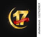 eid al adha 17 years... | Shutterstock .eps vector #1127615819
