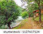 landscape of the hut in the... | Shutterstock . vector #1127617124