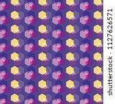 geometric shapes pattern design | Shutterstock .eps vector #1127626571