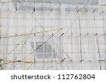 bamboo scaffolding in... | Shutterstock . vector #112762804
